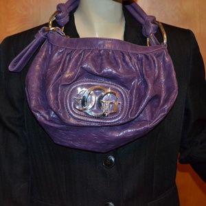 Guess Purple Logo Medium Purse Bag With Zipper